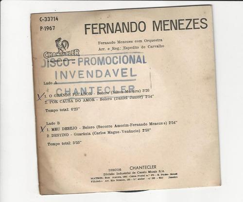 fernando menezes 1967 o grande pecador - compacto ep 48