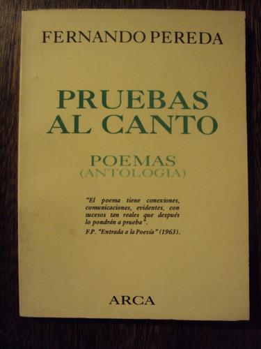 fernando pereda pruebas al canto poemas antologia arca