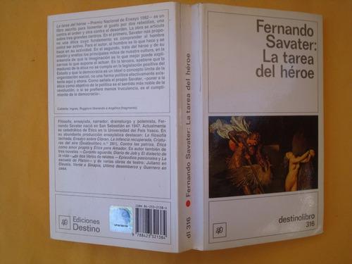 fernando savater, la tarea del héroe, destino, españa, 1992,