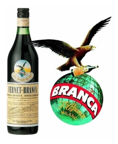 fernet branca x 1 litro botella 1000ml bebidas 01almacen