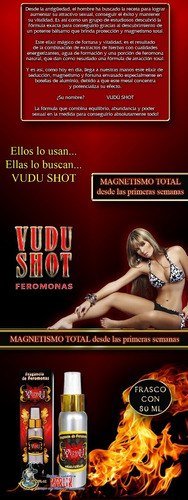 feromonas vudu shot para caballero / seducción y magnetismo