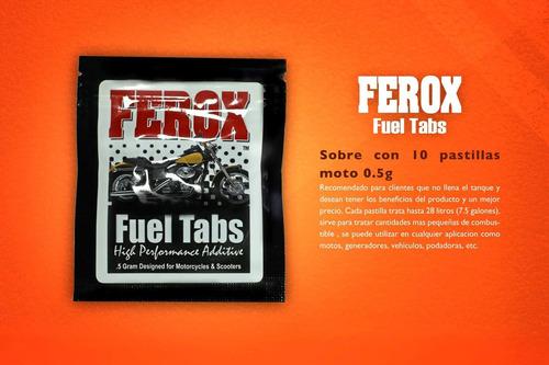 ferox fuel tabs - ahorro 20% en combustible - 10 tabs 0.5g.