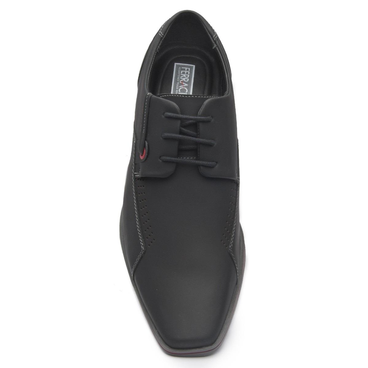 3c66150bca Carregando zoom... sapato ferracini preto cadarço esporte masculino