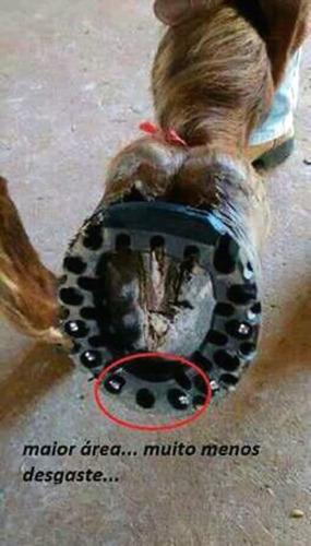 ferraduras emborrachadas para cavalos - jogo com 4 peças
