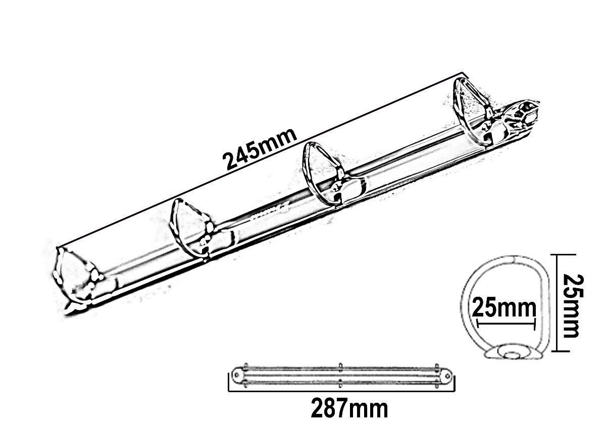 Ferragem Para Fichario A4 - 297 Mm X 25 Mm - 4 Argolas - R  15,84 em ... 2832e52ee2