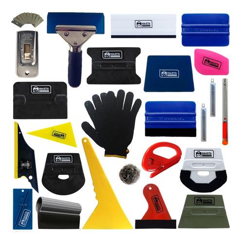 ferramentas espatulas para insulfilm com batedor slim foot