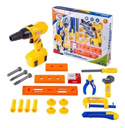 ferramentas infantil furadeira a pilha chaves completa