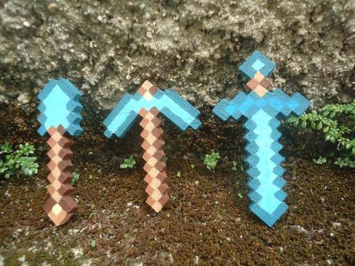 ferramentas minecraft espada picareta pa diamante ouro ferro