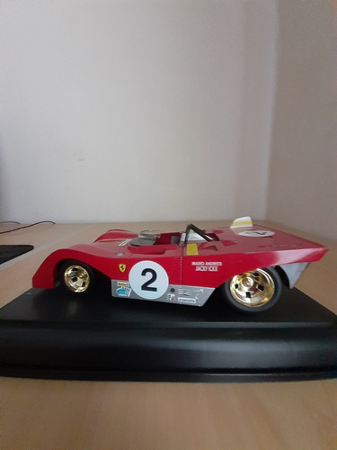 ferrari 312p de 1972 de mario andretti coleccion shell s1/18