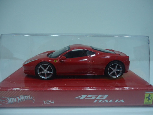 ferrari 458 italia 1/24 hot wheels