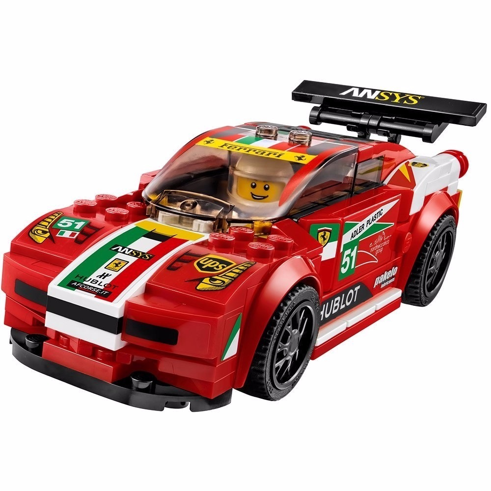 ferrari 458 italia gt2 lego speed champions 75908 en mercado libre. Black Bedroom Furniture Sets. Home Design Ideas