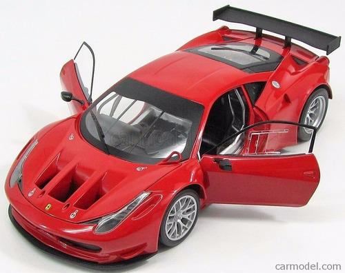 ferrari 458 italia gt2 red hotwheels, 1:18, rojo, nuevo!!!