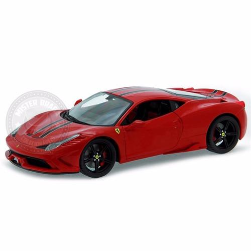 ferrari 458 speciale edição especial vermelha burago 1/18
