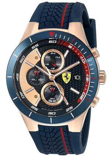 ferrari 830297 reloj de cuarzo de oro y silicona  red rev