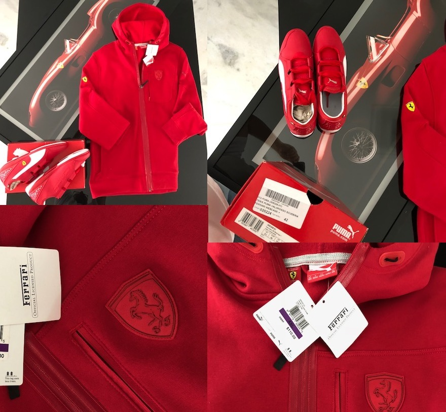 cba9f879e2d ferrari casaco tenis original kit. Carregando zoom.