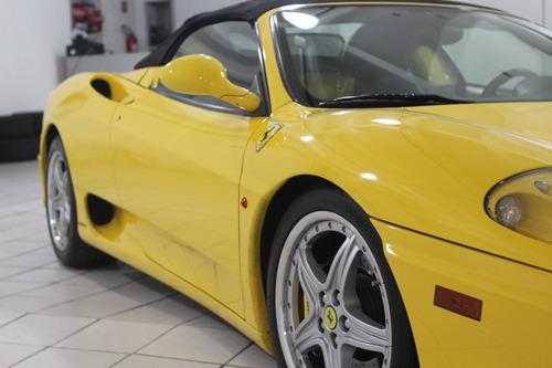 ferrari f360 spider 2004 amarela