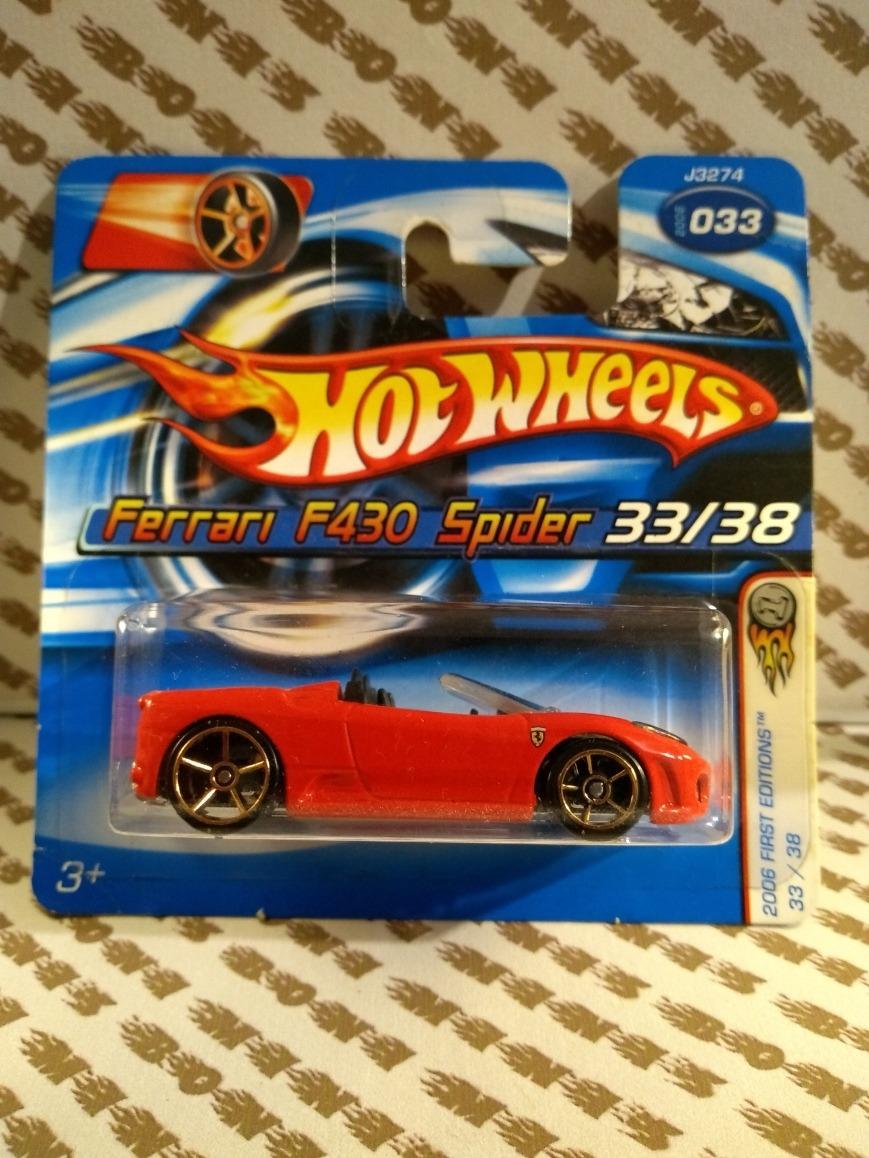 b774f99db80 Ferrari F430 Spider Variação De Roda Dourada Hot Wheels 2006 - R  39 ...