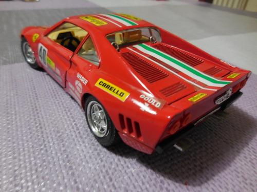 ferrari gto rally ( 1984 ) burago 1/24. una joya vintage.