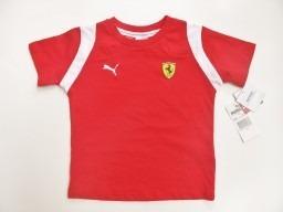 Ferrari Infantil Camiseta Scuderia!!!branca Ou Vermelha - R  169 601ba74154a