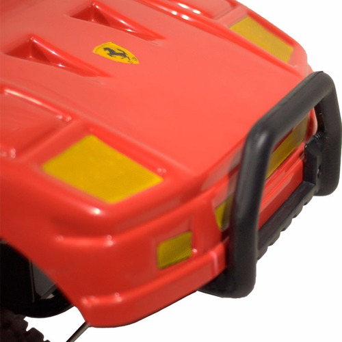 ferrari rodacross auto eléctrico bateria 6v estructura acero