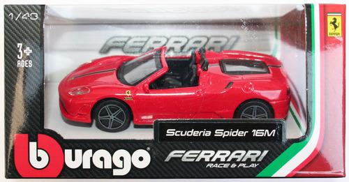 ferrari scuderia spider 16 m burago vehiculo de 1/43
