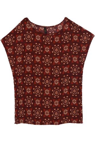 ferriano blusa estampado mosaico