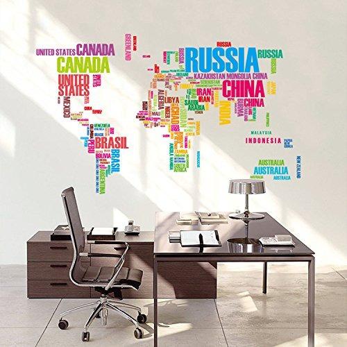 ferris store inglés palabras mapa del mundo wall art decor