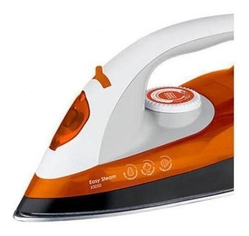 ferro á vapor easy steam x5050 branco e laranja black e deck