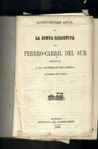 ferro-carril del sur 1860