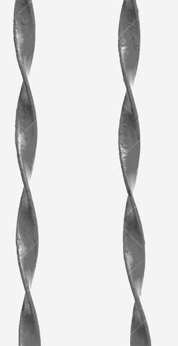 ferro chato torcido 1 x 1/4  decoração serralheria artistica