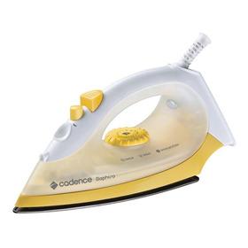 Ferro De Passar A Vapor Cadence Saphiro Cor Amarelo E Branco Com Base Antiaderente 127v - Iro200