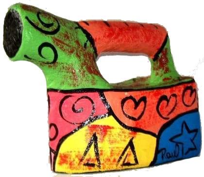 ferro de passar para decorar em papel machê linha color mix