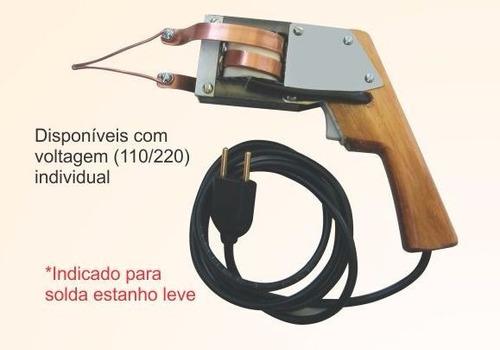 ferro de solda estanhador cabo de madeira 150w-110v