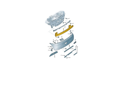 ferro parachoque traseiro fox 2010 a 2014 - consulte o frete