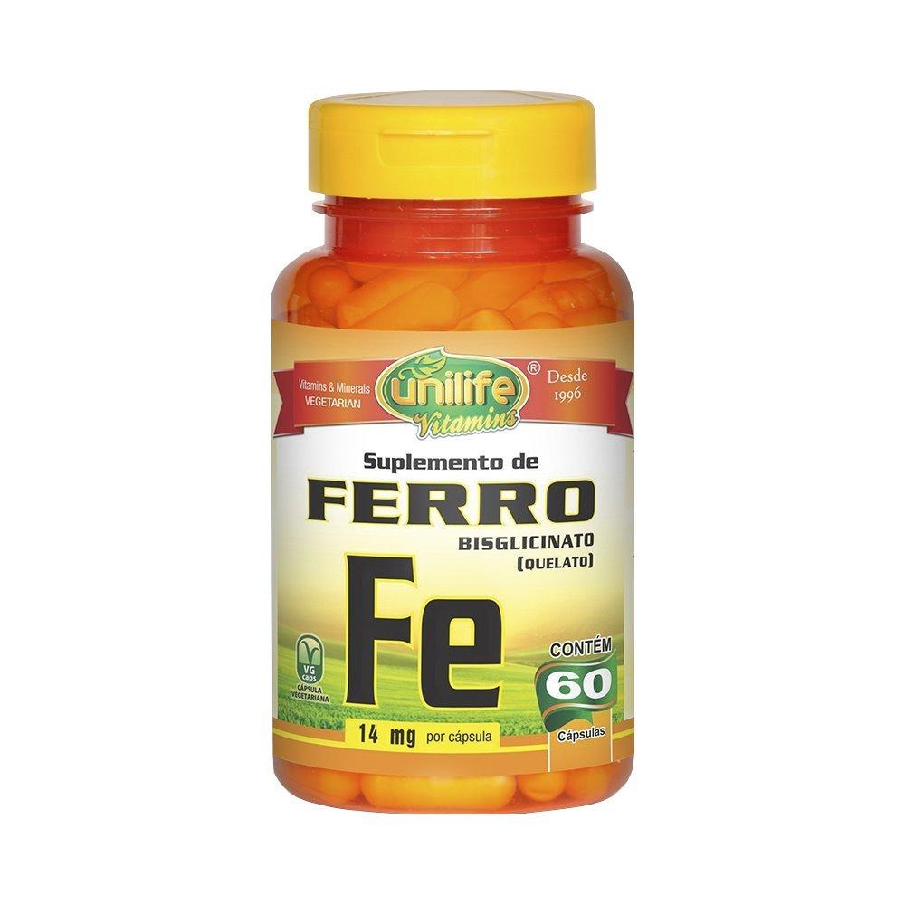 Ferro Quelato Fe 60 Cápsulas 500mg Unilife