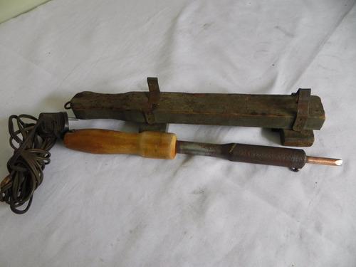 ferro  solda  110v eletrico antigo funciona ano 1970
