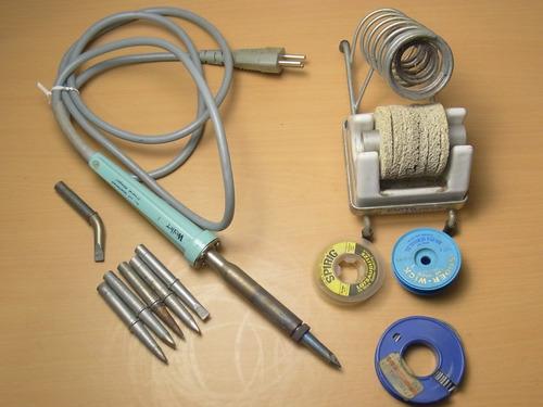 ferro solda weller profissional 100w 220v & acessorios