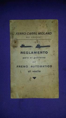 ferrocarril midland  reglamento freno automatico afe tren