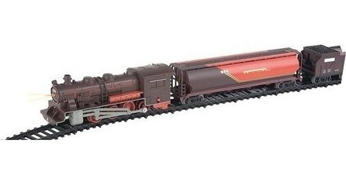 ferrorama super locomotiva farol e luz 40 pças braskit c/ nf