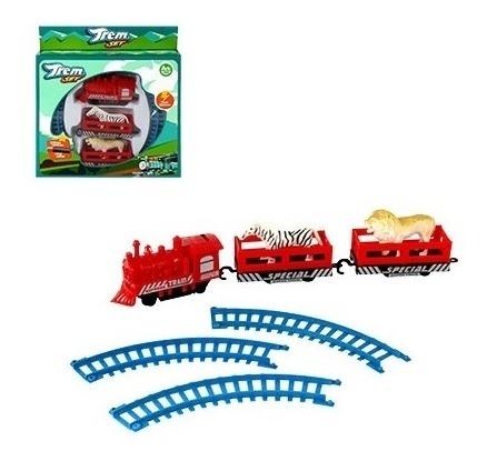 ferrorama trem eletrico completo com animais e trilhos