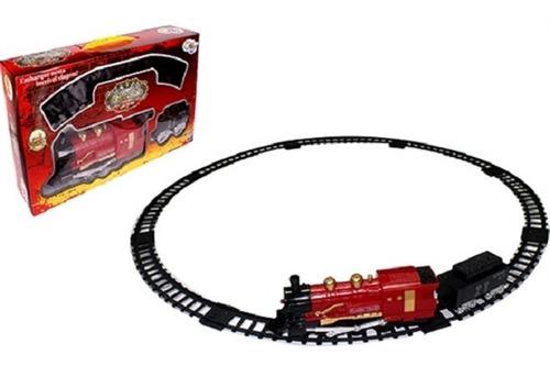 ferrorama trem eletrico locomotiva trilhos vagoes som e luz
