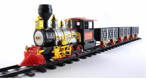ferrorama trem eletrico maquina locomotiva com trilhos e vag