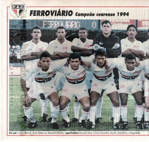 ferroviário campeão cearense 1994 - pôster da revista placar