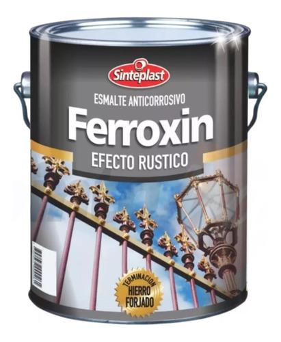 ferroxin esmalte anticorrosivo efecto plata  4lt - sinteplast universo pinturerias