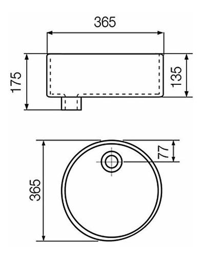 ferrum bacha de apoyar tori redonda 36,5cm l244k
