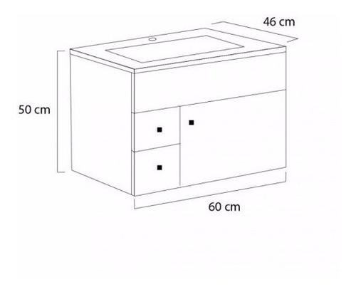 ferrum cadria mueble colgante  de 60 cm x6xd b