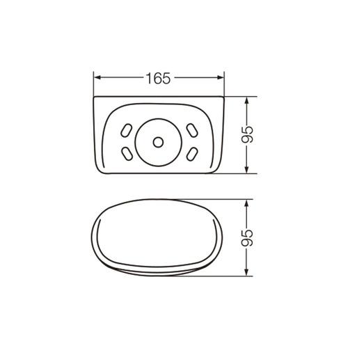 ferrum fix portavaso adhesivo blanco avf2c