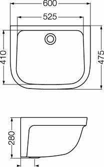 ferrum pileta de lavar blanca sin fregadero plh