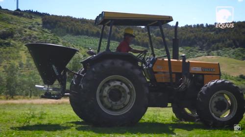 fertilizadora abonadora 400l de plato para tractor equus