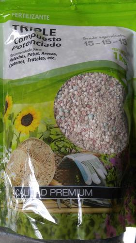 fertilizante triple 15 triple quince granulado x 1 k vivero